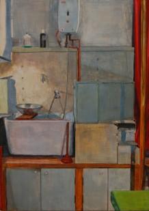 Keuken 2012, 21 x 31 cm, aquarel/potlood