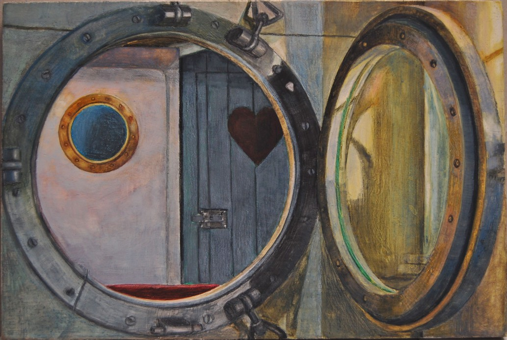Doorkijk 2012, 21 x 31 cm, aquarel/potlood