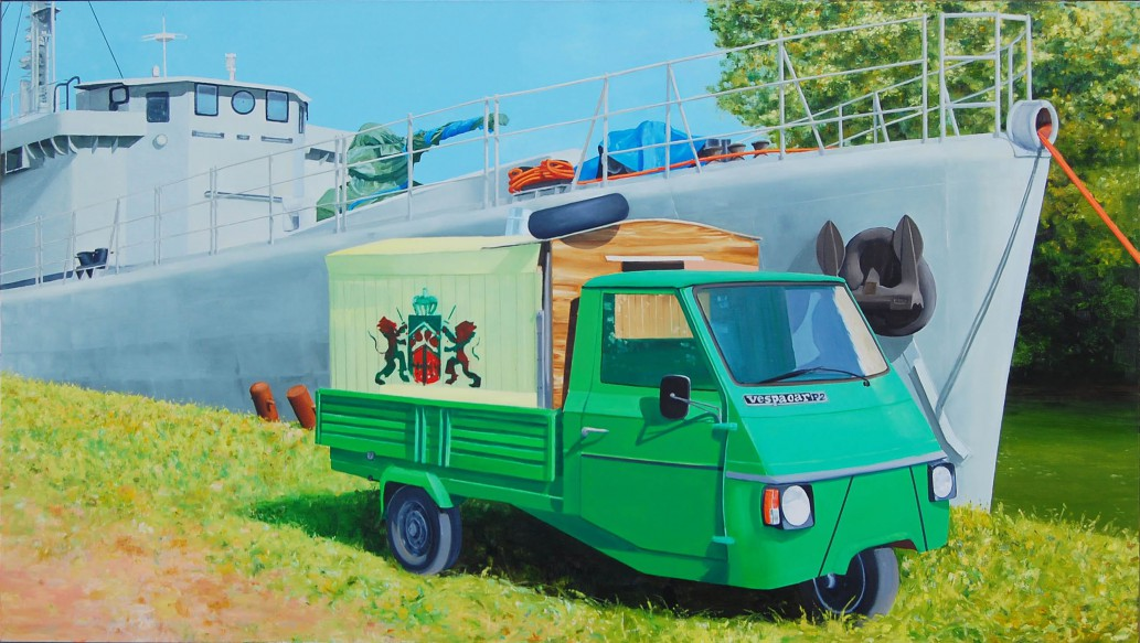 Fougeux & Vespakar 2008, 240 x 135 cm, olieverf