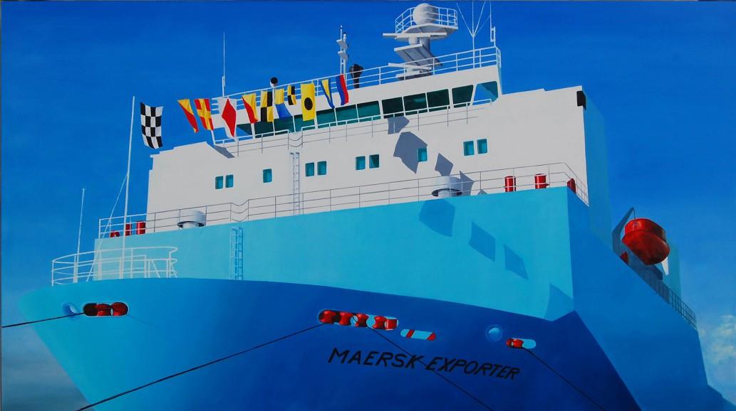 Maersk Exporter  2007  240 x 135 cm, olieverf
