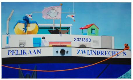 Pelikaan  2007,  140 x 135 cm, olieverf