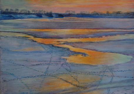Tgenover Culemborg 2012, 21 x 31 cm, aquarel/potlood