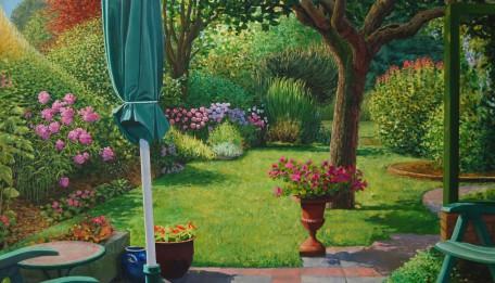 Tuin van de Bosweg  2011,  210 x 115 cm