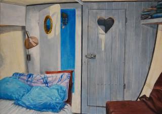 Vooronder 2012, 21 x 31 cm, aquarel/potlood